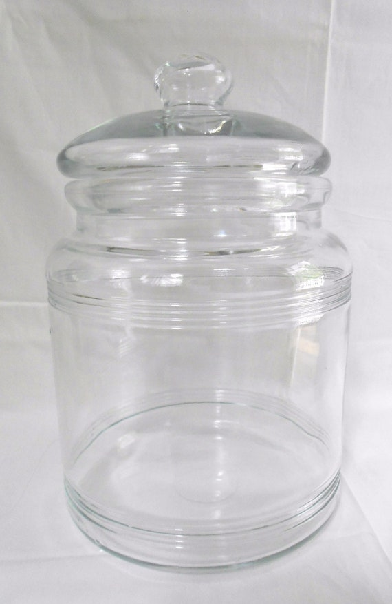 Large Vintage Glass  Apothecary  Pickle Jar Wedding Candy Buffet Jar