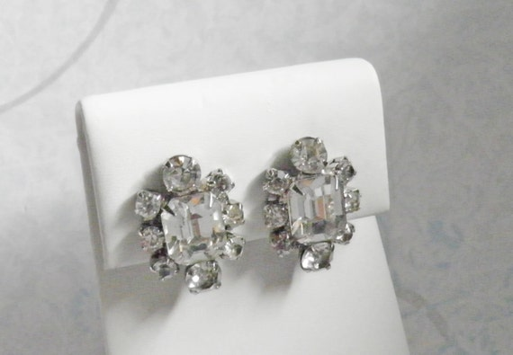 Big Bling Vintage Rhinestone Earrings