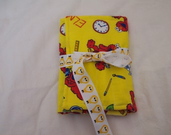 Handmade Crayon Travel Case Holder girls/boys, holds crayons and paper, Elmo