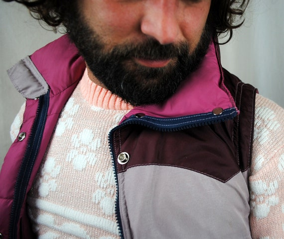 Vintage 80s Powderhorn Mountaineering Puffy Down Ski Vest