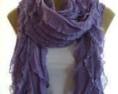 Lilac  Lavender Long  Ruffle scarf ,  Flamenco Superstar, Tube scarf  , Super long,    Many colors available
