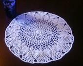 White Crocheted Pineapple Doily