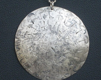 Sterling Silver Old World Medallion Necklace