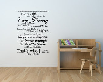 That's Who I Am SUBWAY ART  --size 17 x 23 inches -ideal gift art decal Vinyl Lettering Wall Cling Sticker  1720