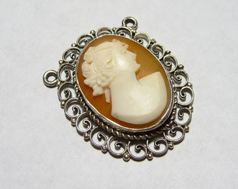 Vintage Carved Shell Cameo Pendant on Etsy