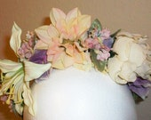 Delicata - pretty floral crown/headband in muted spring colors