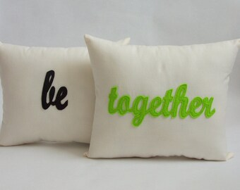 Set of 6 Holiday Pillows, Be Spooky, Be Thankful, Be Jolly, Be Together, Be Sweet