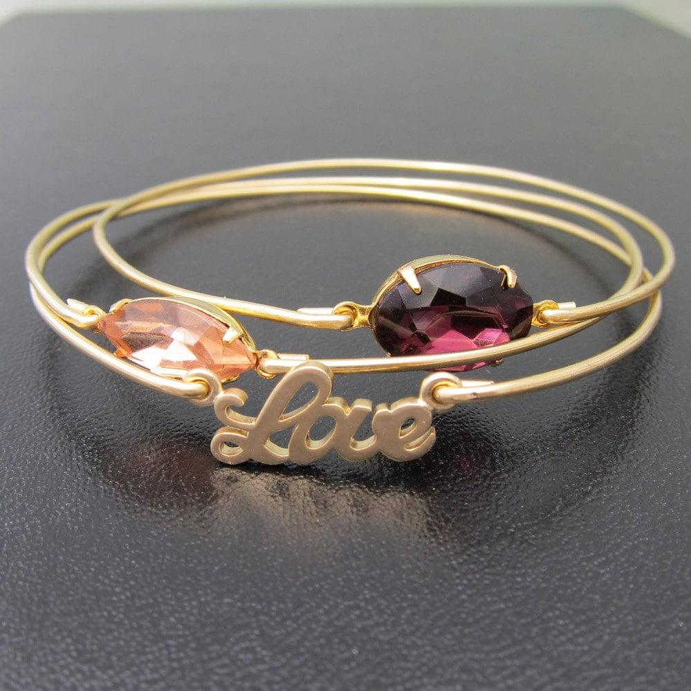 Sweet Love Gold Bracelet Stack Romantic Jewelry Romantic