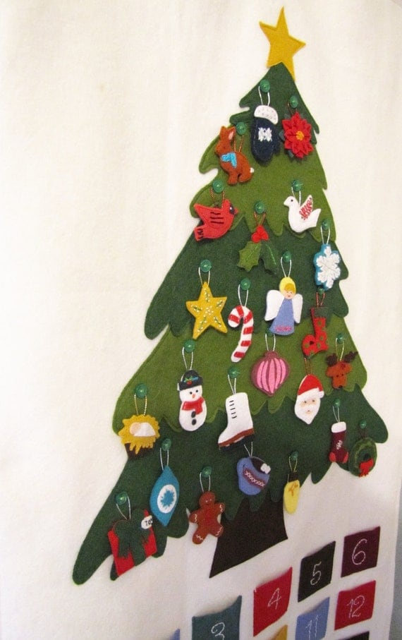 felt christmas tree instructions