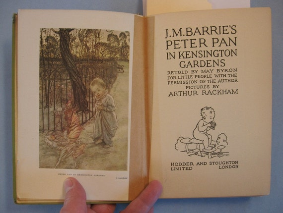 Peter Pan in Kensington Gardens, J.M. Barrie, Beautifully Illustrated by  Arthur Rackham