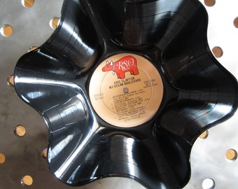 """Genuine 33rpm Upcycled LP Record Bowl featuring Eric Clapton """"461 Ocean Blvd."""" On RSO Records"""