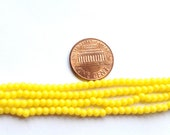 Vintage Japanese - Lucite Beads Yellow Round 3mm - MI504