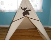 Moose Head Silhouette Teepee - Free US Shipping