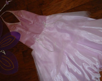 Costume angel tooth fairy fantasy Halloween lavender halter dress wings womens sz 7/8
