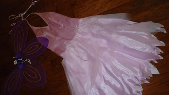 Costume angel tooth fairy fantasy Halloween lavender halter dress wings womens sz 7/8