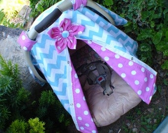 Girl Car seat Canopy