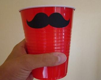 50 mustache solo cups