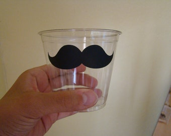 24 Mustache Party Cups - 9 0z
