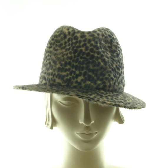 animal print fedora hat for leopard by