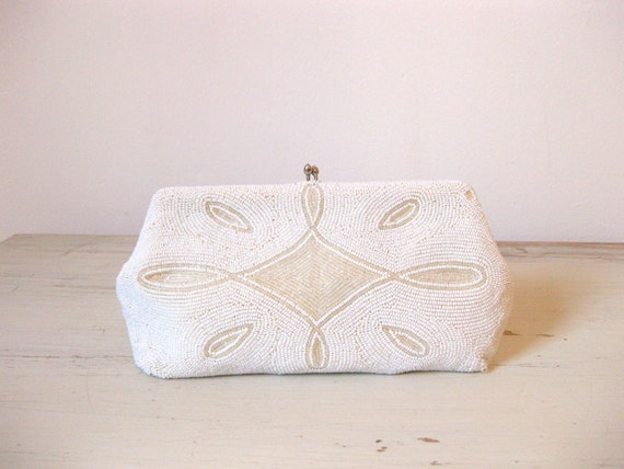 30s Belgian beaded clutch // bridal bag