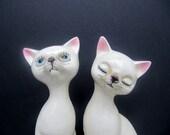 Vintage Siamese Ceramic Cats