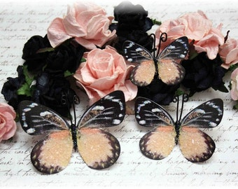 Amongst the Shadows Glitter Glass Butterflies for Scrapbooking, Cardmaking, Tag Art, Mixex Media, Mini Album