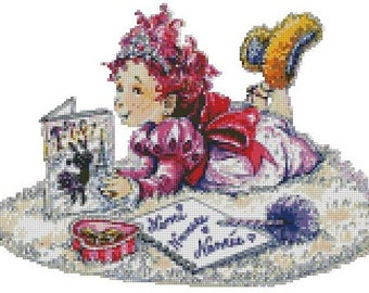 Fancy Nancy - Reading Cross Stitch E-Pattern