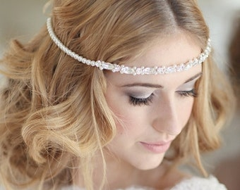 Bridal headdress wedding bridal forehead band browband - Derwent design