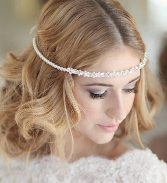 bridal headdress wedding bridal forehead band browband