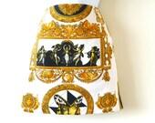 Versace, mini, size 40, size 4, size 6, wiggle, Italy, Antonio D'Amico, designer, fashion, chic, rococo, hip, gold, black, white