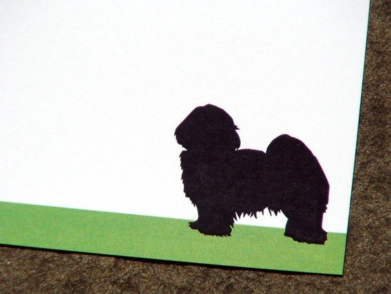 Custom Note Cards Personalized Note Cards Personalized Stationery Set Note Cards Thank You Notes Flat Note Cards Havanese