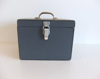 Vintage Box Gray Industrial Storage Box