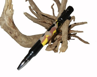 Handcrafted Bullet Pen with Bolt Action and Rifle Clip in Yellow, Brown, Black, Tan, Camo Father Dad Grandpa Ready To Ship by CraftCrazy4U