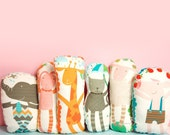 animal pillow softie toy for nursery room