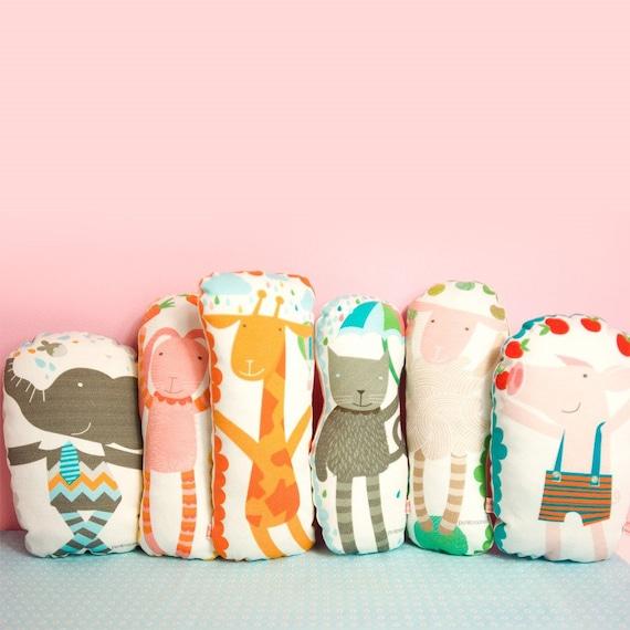 Animal Pillows For Nursery : Items similar to animal pillow softie toy for nursery room on Etsy