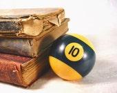 Vintage Pool Billiard Ball. No.10 Game Room Man Cave Decor