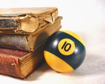 Vintage Pool Billiard Ball. No.10 Game Room Man Cave Decor