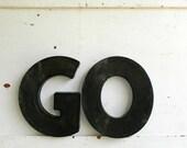 vintage GO letters