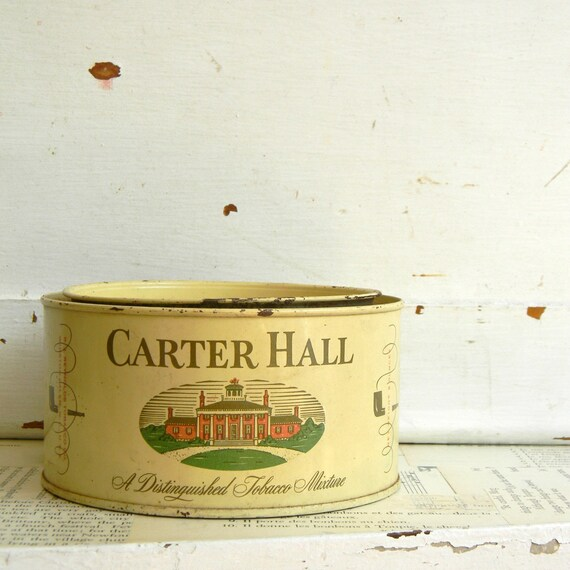 vintage carter hall tobacco tin