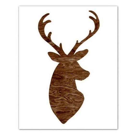 Articles similaires silhouette de t te de faux bois cerf - Tete de chevreuil decoration ...