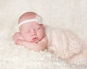KNITTING PATTERN flower headband - newborn photography props - 'little sparkler'