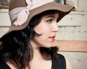 Brown Floppy Hat - Ladies Designer Hat for Winter