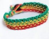 Bob Marley Rasta Cuff Hemp Bracelet
