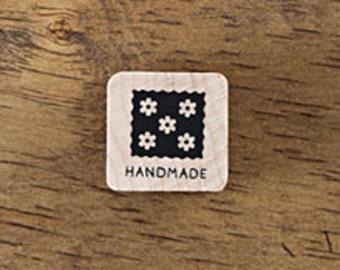 Small Handmade stamp with Flowers, U3352