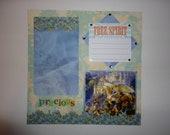 Magical Unicorn Oracle - Precious - Free Spirit 8 x 8 scrapbook page