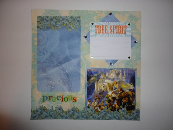 Magical Unicorn Oracle - Precious - Free Spirit 8 x 8 scrapbook page