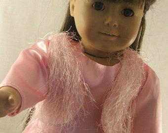 Pink Dress, Vest,Tights and Hairclip for American Girl