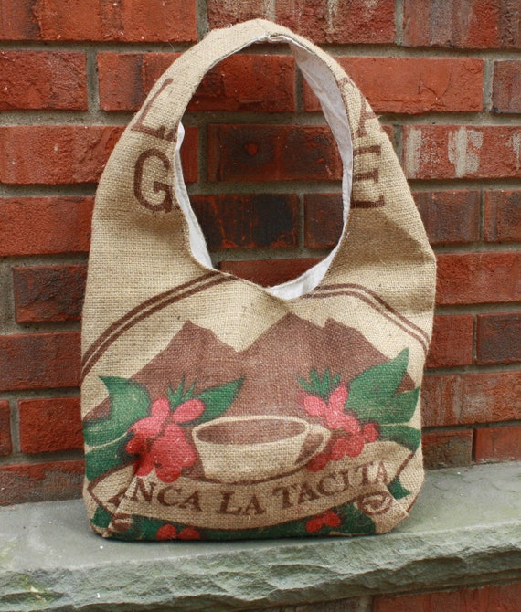 Burlap Hobo Purse