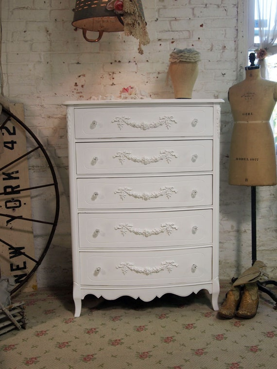 Painted Cottage Romantic Shabby White French Dresser CH360