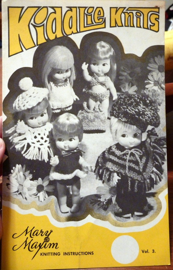 16 Barbie Sized Doll Clothes Patterns- Vintage Knit and Crochet Pattern Lot- Mary Maxim